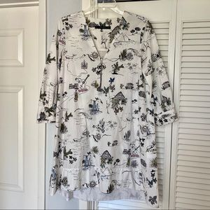 Zara Print Shirt Dress